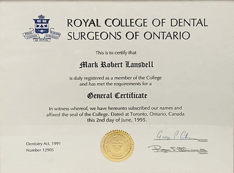 Dr. Mark Lansdell | Royal College of Dental Surgeons