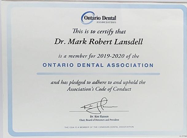 Dr. Mark Lansdell | Ontario Dental Association